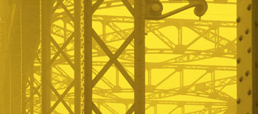 yellow industrial scene